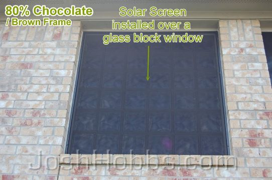 Heat reduction recent installation of solar screens for Where to buy glass block windows